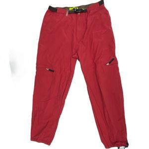 Mountain Dew Men Jogger Pants High Rise 36 Red